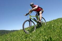 Funn con la bici de Donwhill Fotos de archivo libres de regalías