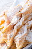 Funnel cake. A fresh and tasty Funnel cake Stock Photography