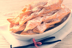 Funnel cake. A fresh and tasty Funnel cake Royalty Free Stock Image