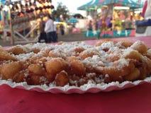 Funnel cake fun fair food Stock Image