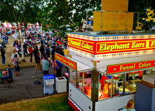 Funnel Cakes and Elephant Ear Fair Food Cart Royalty Free Stock Photo