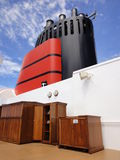 Funnel of a Cruise Ship, Smokestack or Chimney Stock Photo