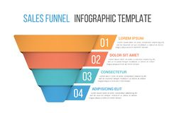 Funnel Diagram Template vector illustration