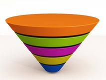 Funnel empty Royalty Free Stock Photography