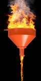Funnel and fire Royalty Free Stock Images
