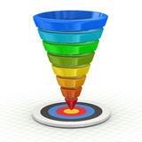 Funnel Graph Royalty Free Stock Image