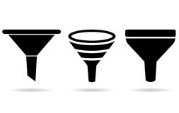 Funnel icon. S on white background Stock Photography