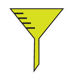 Funnel icon vector Royalty Free Stock Photo