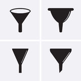 Funnel Icons. Royalty Free Stock Photo