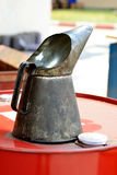 Funnel on oil drum Stock Photography