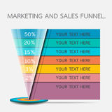 Funnel for presentation or infographics Stock Image