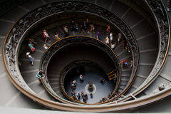 Funnel stairs in Vatican Royalty Free Stock Images