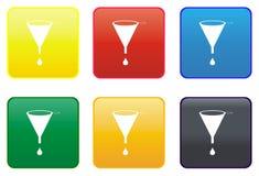 Funnel web button Stock Photos