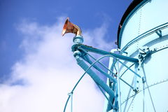 Funnel and whistle steamship blue sky Royalty Free Stock Photos