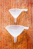 funnels genomskinliga två Fotografering för Bildbyråer