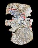 Funnen återanvänd krossad ölburkavnötningsprodukter för konst Arkivbild