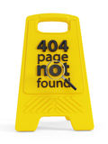 404 funnen inte sida Arkivfoto