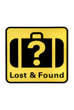 funnet förlorat Royaltyfri Fotografi