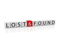 funnet förlorat arkivbild