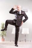 Funniculì funniculà που χορεύει στο γραφείο Στοκ Φωτογραφίες