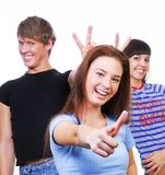 Funning friends Royalty Free Stock Photography