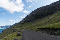 Funningsfjord i den Vagar ön på Faroe Island arkivfoton