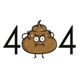 Funnit fel 404 för sida inte Aktertecknad film för Websiteprojekt royaltyfri illustrationer