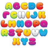 Funnny Colorful Cartoon Font. Funny Colorful Plastic Letters. Cartoon Vector Font Kit Ready for Your Text and Design Stock Photography
