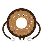Funny сartoon сookie on a white background vector illustration Stock Photography