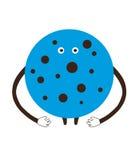 Funny сartoon blue сookie on a white background vector illustr Stock Image