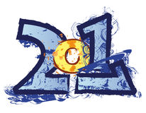 Funny 2011 logo Royalty Free Stock Images