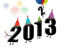Funny 2013 New Year's Eve. Background, vector illustration Stock Illustration