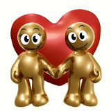 Funny 3d icon holding hand Royalty Free Stock Photography