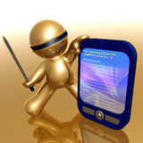 Funny 3d icon with pda gadget. Illustration Royalty Free Stock Photo