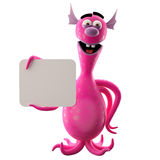 Funny 3D monster, funny addition for websites, advertising Stock Photos