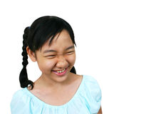 So funny!. Young asian girl laughing royalty free stock photos