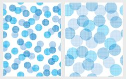 Funny Abstract Blue Lights Vector Patterns. White Backgrounds. vector illustration