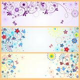Funny abstract horizontal banners Royalty Free Stock Images