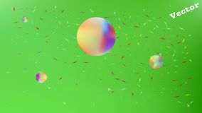 Funny abstract space fantasy  clean. royalty free illustration
