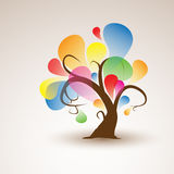 Funny Abstract Tree Sticker Wall Decal for your design Stock Photo