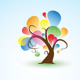Funny Abstract Tree Sticker Wall Decal for your design Stock Photography