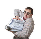 Funny accountant Royalty Free Stock Photos
