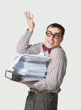Funny accountant Stock Images