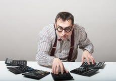 Funny accountant Stock Image