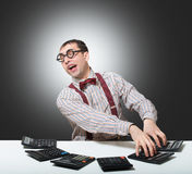 Funny accountant Royalty Free Stock Photos