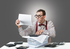 Funny accountant Stock Photos