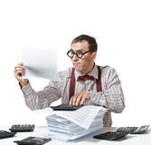 Funny accountant Royalty Free Stock Photography