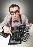Funny accountant Stock Photography