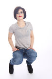 Funny active Tomboy Royalty Free Stock Image