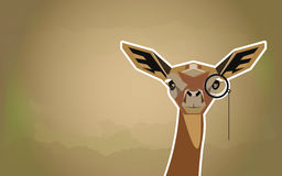Funny African animal Antelope  Gazelle  in a cartoon style. Stock Images